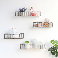 No Punching Wall-Mounted Floating Shelves Storage Rack Bookshelf for Home Office