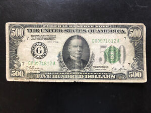 1928 $500 Federal Reserve Note Chicago tougher than 1934's!