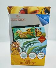 Lion King 4 Piece Full Sheet Set (New)