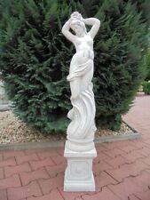 """Gartendeko Akt Gartenfiguren /""""Jungfrau auf Fels/"""" H.36 cm Menschen Steinguss"""
