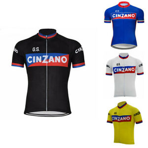 1970 CINZANO Retro Cycling Jersey cycling Short Sleeve jerseys