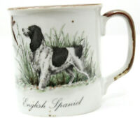 Vintage English Spaniel Dog Coffee Mug Cup Stoneware Hunting Scene 10 Ounces