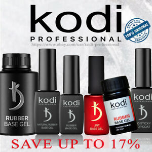 Kodi Rubber Base Coat, Matte Top 8, 12 ,14, 30 ml. Nail Fresher, Gel, No Sticky