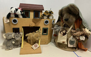 Noahs Ark & Friends Camel Panda Tiger Elephant Boyds Bear Wooden Mr Noah Tags