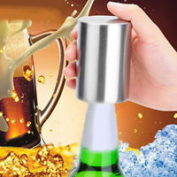 AU_ Stainless Steel Automatic Bottle Opener Beer Wine Can Cap Catcher Bar Tool H