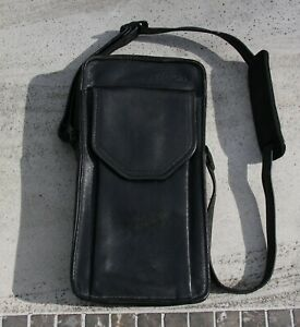 Polaroid SLR 680 690 Black Leather Pouch/Case w/ Red Felt - Awesome & Super Rare