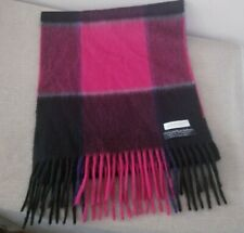 Vintage Lord & Taylor Plush Cashmere Plaid Scarf, West Germany