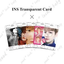 5pcs Kpop EXO BAEKHYUN Ins Transparent Cards EXO-L Collective Photocard Gift