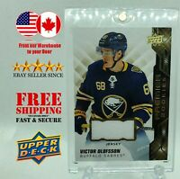 VICTOR OLOFSSON 2019-20 UD Premier Rookies Jersey no.75 RC Buffalo Sabres