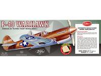 Guillow's Balsa Wood Model Airplane Kit, WW II Curtis P-40 Warhawk  GUI-405
