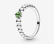 PANDORA Spring Green Beaded Ring 198598C10 Brand New!