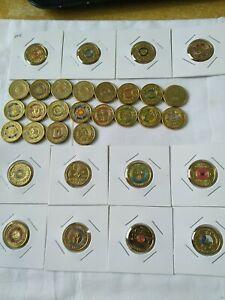 Coloured set $2 Coin Australian Circ / UNC 2 dollar