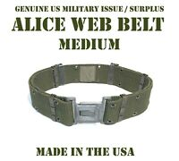 M US MILITARY ALICE PISTOL WEB UTILITY DUTY BELT OD GRAY BUCKLE LBV LCE LBE VGC