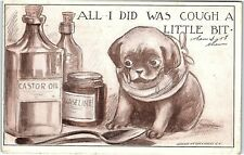 Postcard Dog All I Did Was Cough A Little Bit Roth Langley Spoon Castor Oil U4