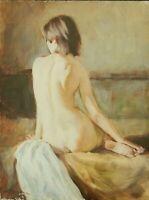 tableau huile /toile  - Jeune femme nue   - signée Alexender SHEVCHUK