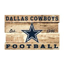 Dallas Cowboys Xxl Wooden Sign 29 7/8in Nfl Football,Plank Wood Sign