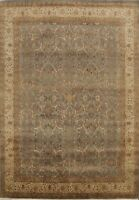 Vegetable Dye Floral Agra Oriental Traditional Hand-knotted Wool Area Rug 8'x10'