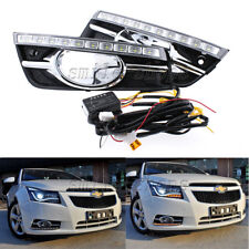 Daytime Running Light LED Turn Signal Fog Lamp Cover For Chevrolet Cruze 09-13
