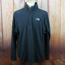 Men's The North Face XL 1/4 Zip Pullover Sweater Fleece Dark Grey L/S Outdoor