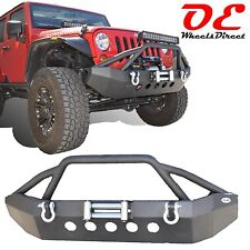 Mid Length Front Winch Bumper KO Off Road Fits Jeep Wrangler 2007-2016 All Model