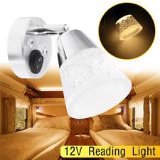 12V LED Reading Light RV Camper Trailer Boat Wall Mount Bedside Lamp Warm White