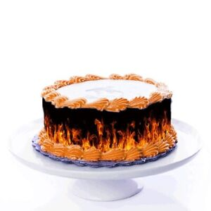 Tortenband Feuer essbar - 4 Stück á 24cmx5cm