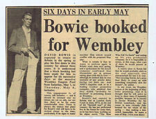 David Bowie Pop Music Clippings, Cuttings & Articles