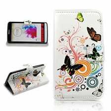 Magnetic Flip Wallet Phone Skin Leather Stand Cover Case Pouch For LG G3