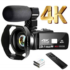 4K Video Camera Camcorder with Microphone 30FPS 48MP Vlogging Camera with 3.0""