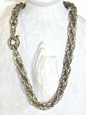 Vintage Chunky Sterling Silver 925 Chain Maille Link BIG Spring Ring Necklace