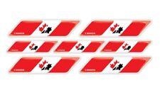 Canada Hockey flag 3d domed emblem decal sticker BMW Ferrari Porsche VW AUDI