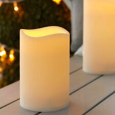 Outdoor Battery Operated LED Flickering Candle with Timer - Large