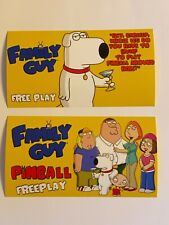 Family Guy Stern Pinball Apron Instruction Cards