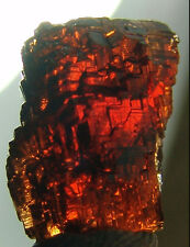 Rare Gem red Etched Garnet SPESSARTITE Navegador Mine, Minas Gerais, Brazil