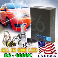 D2S D2R LED Headlight Conversion Kit 72W 6000K, 7600LM Bright White Light Bulbs