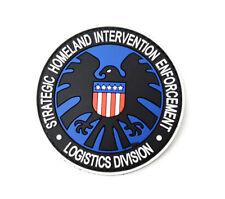 Agents of S.H.I.E.L.D Logo Pvc 3D Rubber Hook Patch. UK Seller