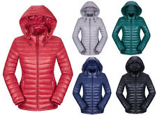 Winter Casual Womens Ultra Light Down Coat Hooded Warm Short Slim Quilted Jacket