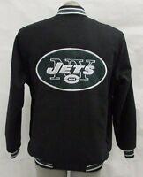 New York Jets NFL Men's Full Zip Snap-Up Wool Blend Jacket