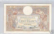 FRANCE 100 FRANCS MERSON 12.5.1938 Q.59051 N° 1476265297