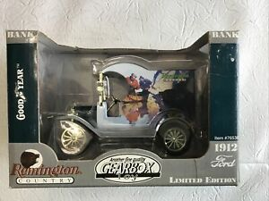 Gearbox Toy: 1912 Ford-Remington Country - Metal Coin Bank - Limited Edition-NIB