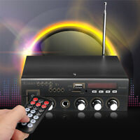 600W HiFi Digital bluetooth Stereo Amplifier FM Audio AMP USB SD Mic Home &