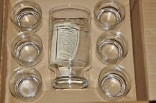 "Princess House #407 Pitcher and 6 ""Roly Poly"" Glasses In original box martini"