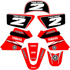YAMAHA PW 50 PW50  GRAPHICS KIT DECALS DECO Fits Years 1990 - 2018 Red