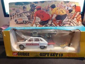 Corgi Toys Gift Set 13 Renault 16 Tour De France Paramount Film Unit Boxed.