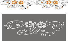 Malerschablonen, Stencil, Wandschablone, Stupfschablone, Wanddekor, Blütenstrauß