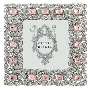 """OLIVIA RIEGEL ROSE GENEVIEVE 4X4"""" PHOTO FRAME RT0319.NEW IN BOX"""