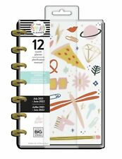 New! Happy Planner 2021 Life In Doodles Mini Horizontal Planner 12 Months MAMBI