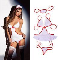 Sexy Women Nurse Doctor Uniform Costume Lingerie Halloween Cosplay Fancy DressÁÁ