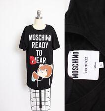 MOCSHINO Ready To Bear T-Shirt Designer Tee Moschino Couture Small