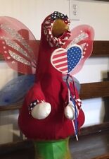 NEW FOR YOUR GOOSE: Patriotic Glittering Wings Goose Outfit By Silly Goose